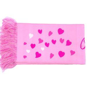 Sjaals op maat roze met hartjes