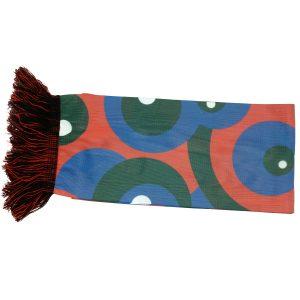 Sjaals op maat rood met groen