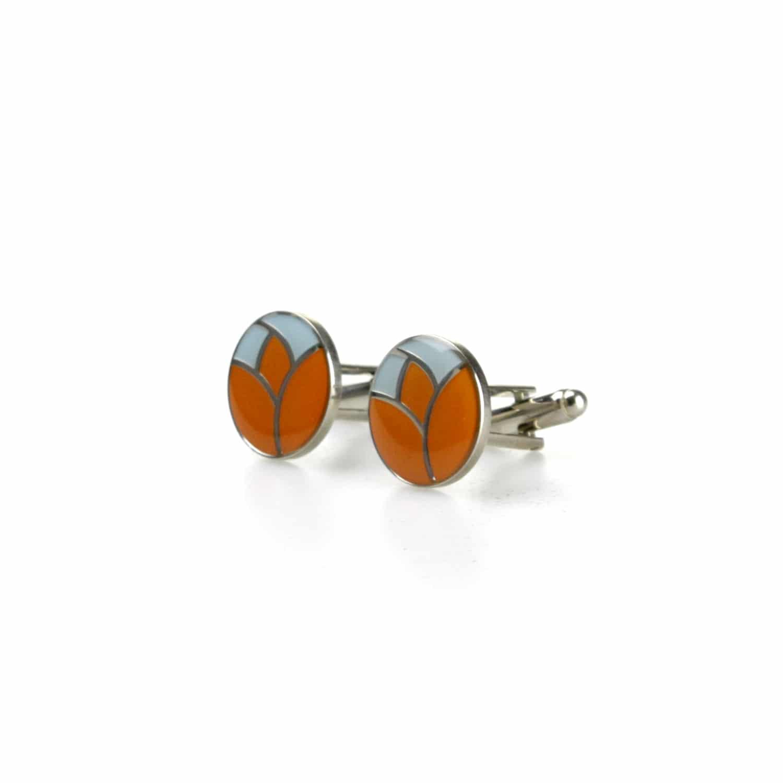Ingekleurde Manchetknopen met logo voor uw bedrijf maken: manchetknopen met diamantgravering, lasergravering, ingekleurde manchetknopen, delftsblauwe manchetknopen en meer