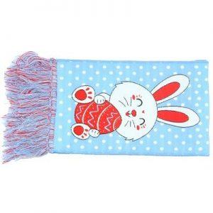 Sjaals op maat blauw met konijn
