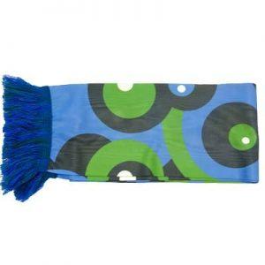 Sjaals op maat blauw met groen