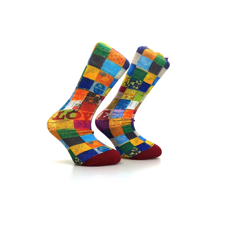 chaussettes imprimées à 360 degrés