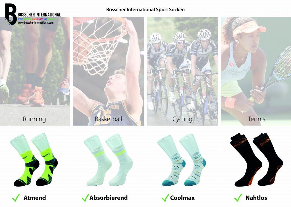 SPORTSOCKEN FÜR JEDE SPORTART ERSTKLASSIGE MATERIALIEN SPEZIELLE GRÖßEN Socken für alle Sportarten