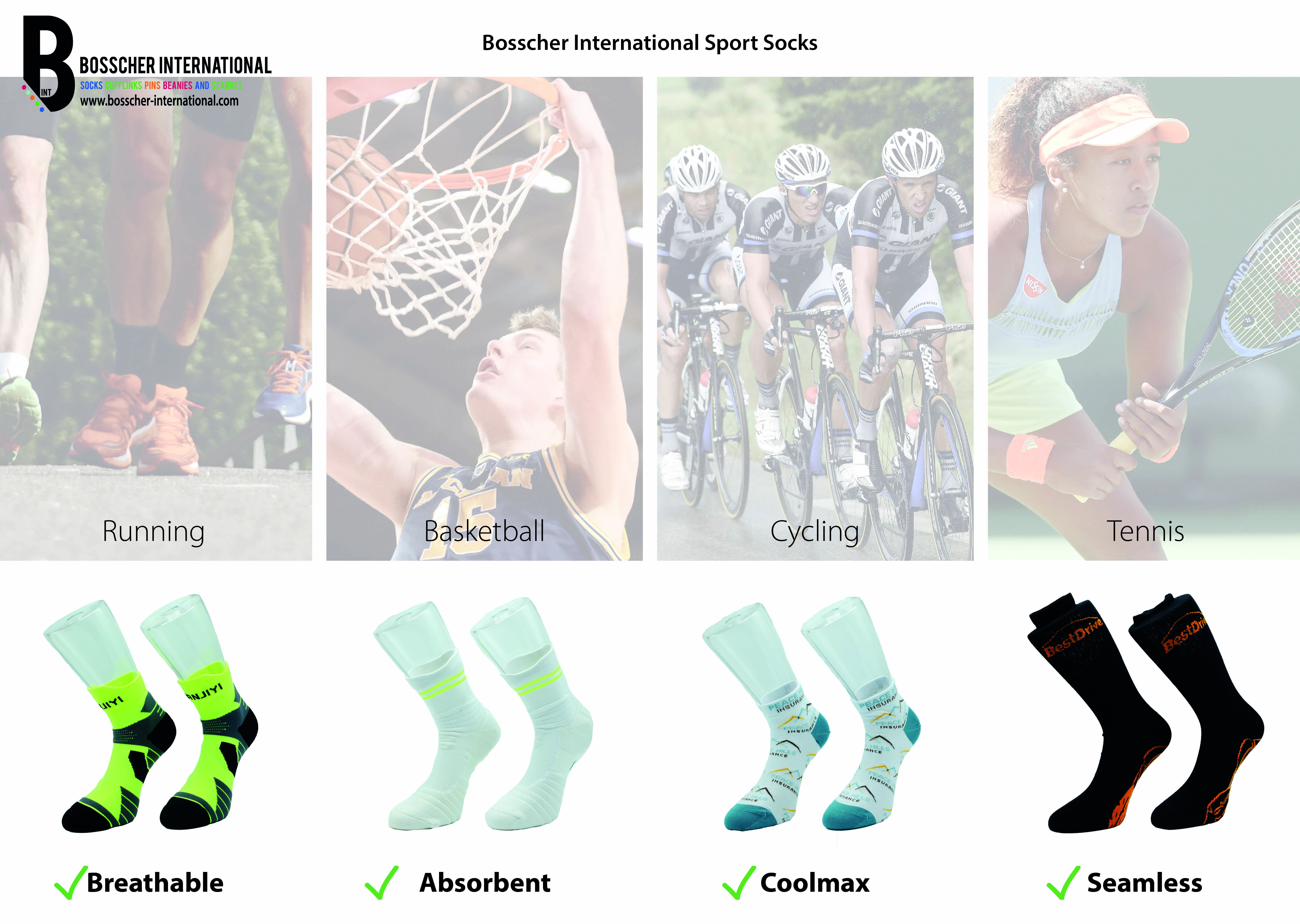 SPORT SOCKS FOR EVERY SPORT FIRST CLASS MATERIALS SPECIAL SIZES