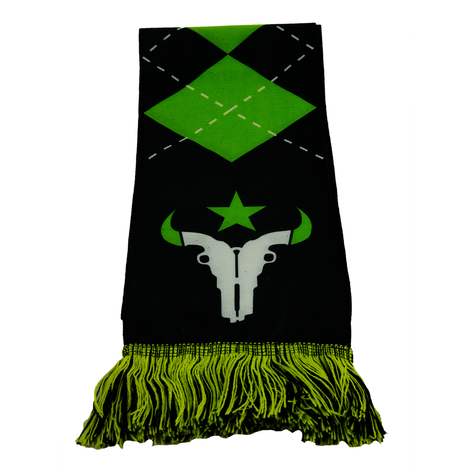 Recycled polyester scarves with logo