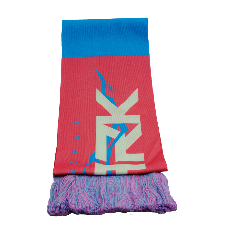 Recycled polyester scarves personalized