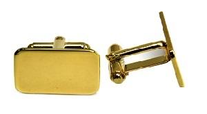 Silberne und goldene Manschettenknöpfe